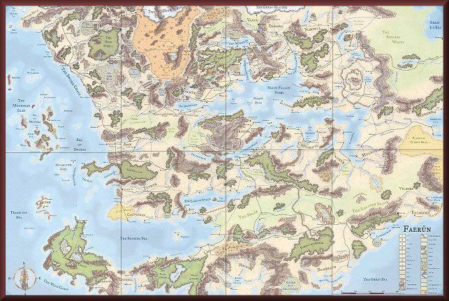 Карта Фаеруна до 1379г.